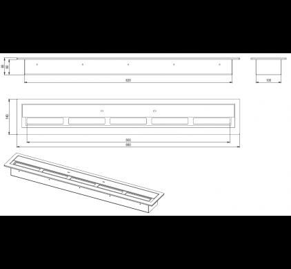 Топливный блок BioKer 80см 4L