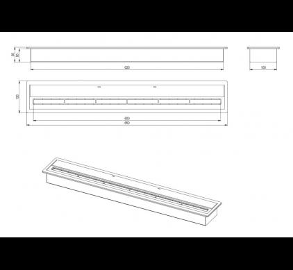 Топливный блок BioKer 60см 3L