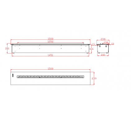 3D-электроочаг Line-S 150 3D Matte Black