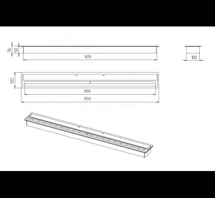 Топливный блок BioKer 90см 4,5L